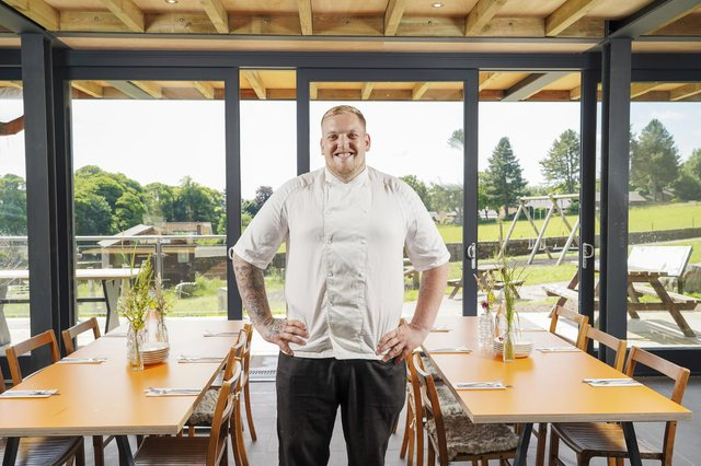Chef Luke Rhodes at his new restaurant in Whirlow Hall Farm. Picture Scott Merrylees