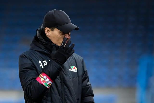 Oostende's head coach Alexander Blessin has impressed Sheffield United: KRISTOF VAN ACCOM/BELGA MAG/AFP via Getty Images