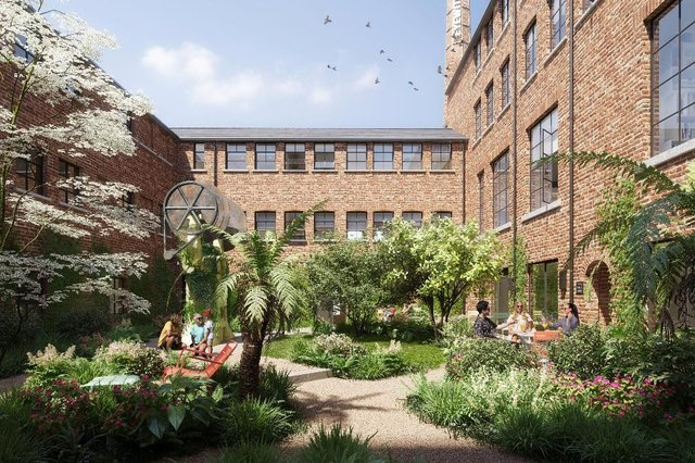 Image of a courtyard in the Eyewitness development.