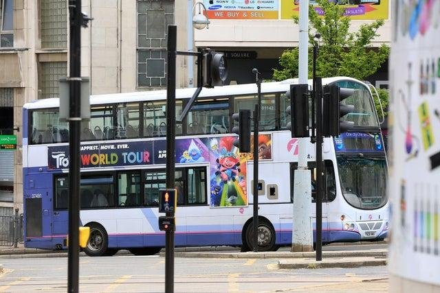 Buses in Sheffield