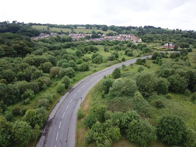 Owlthorpe fields, as seen from above