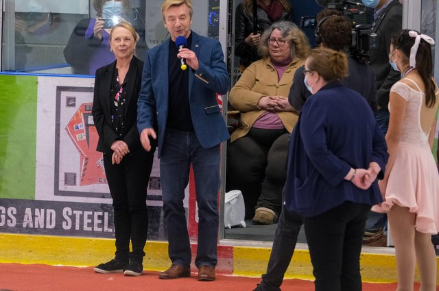 Jayne Torvill and Christopher Dean launch the Ice Dance Academy at iceSheffield, during the Solo Ice Dance Celebration competition