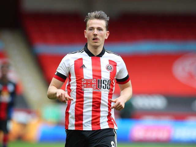 Sheffield, England, 8th May 2021. Sander Berge of Sheffield Utd  during a Premier League match at Bramall Lane, Sheffield. Picture credit should read: Simon Bellis/ Sportimage