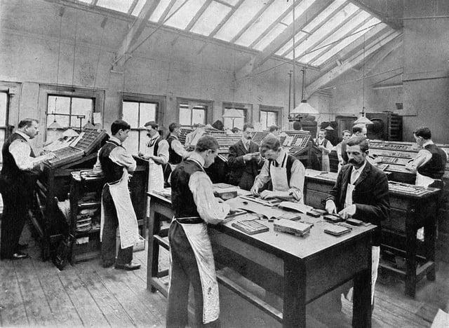 Printing Department, 1905