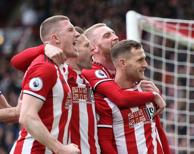 Billy Sharp of Sheffield Utd celebrates scoring against Norwich: Alistair Langham/Sportimage