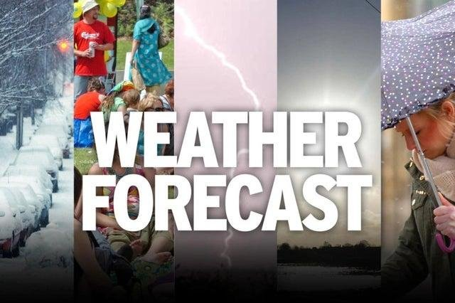Weather forecast for the Easter weekend.