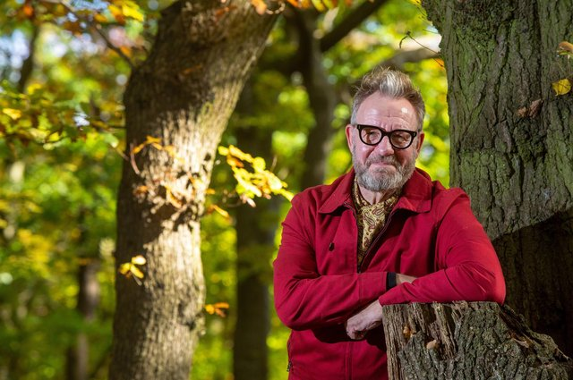 Artist Pete McKee pictured in Endcliffe Park. Picture: Bruce Rollinson