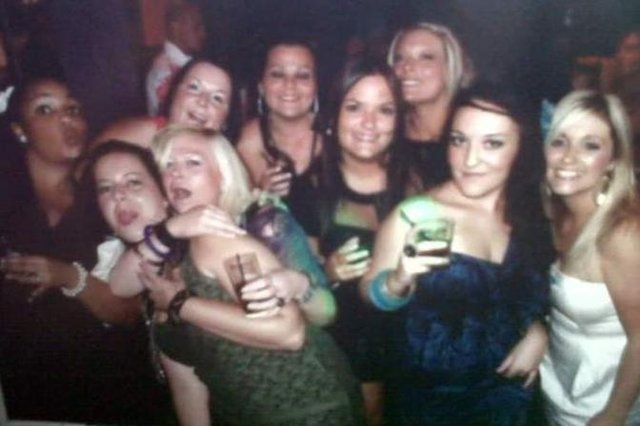 A group of friends at Kingdom nightclub in Sheffield