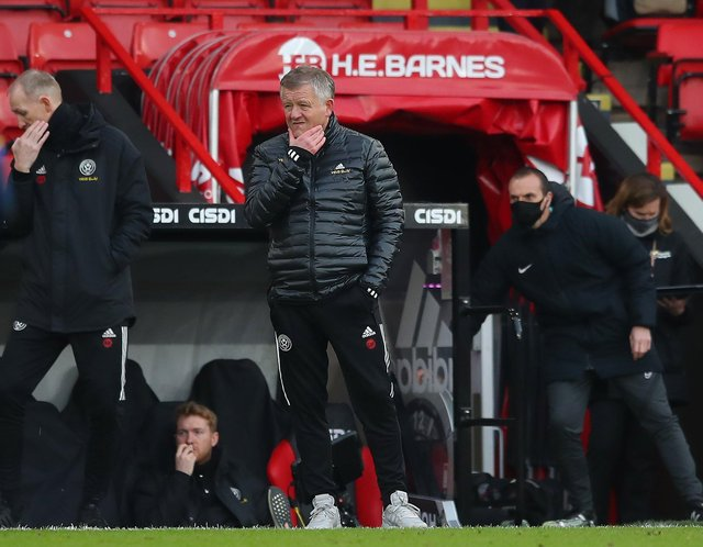 Chris Wilder, the manager of Sheffield United, is trying to wok out issues behind the scenes at Bramall Lane: Simon Bellis/Sportimage