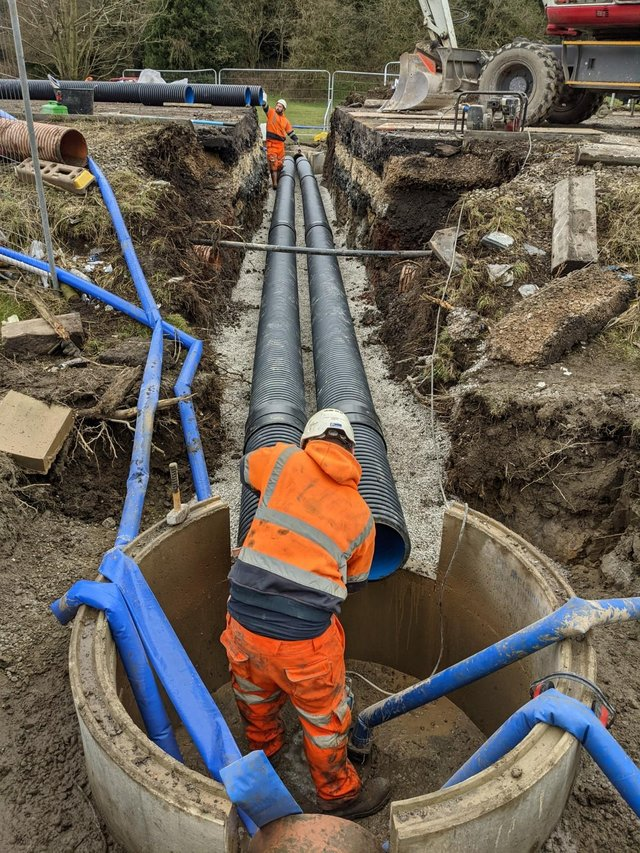 Work on the A616 in Sheffield, which is closed this weekend (pic: Highways England)