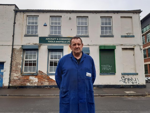 Toolmaker Michael Atter, aged 60, has been at the firm for 45 years.