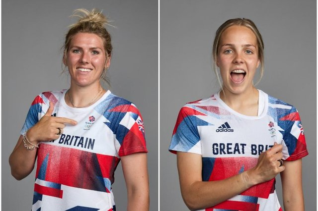 Chelsea's Millie Bright (left) and Ellie Roebuck of Manchester City will represent Team GB at the Tokyo Olympics.