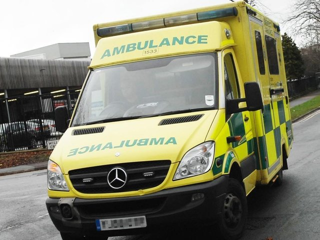 Emergency services were called after a person was hit by a train between Sheffield and Chesterfield