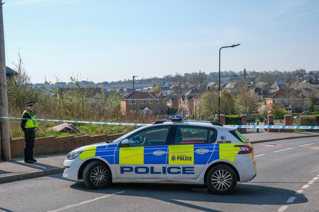 A murder investigation is continuing today after the death of a 32-year-old man on the Manor estate in Sheffield yesterday morning (Photo: Dean Atkins)