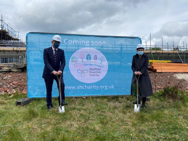 Adrian Stone and Kirsten Major at the site at the Northern General Hospital.