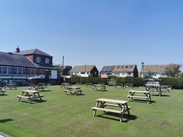 Crookes Social Club has created what it believes is the city's biggest beer garden - on the bowls green