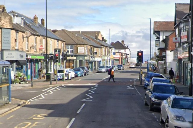 Crookes, Sheffield, where the hate-filled message was found pinned up