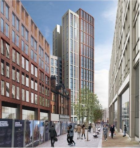 Developers want to amend their plans for Midcity Tower at Furnival Gate (image - Hadfield Cawkwell Davidson).