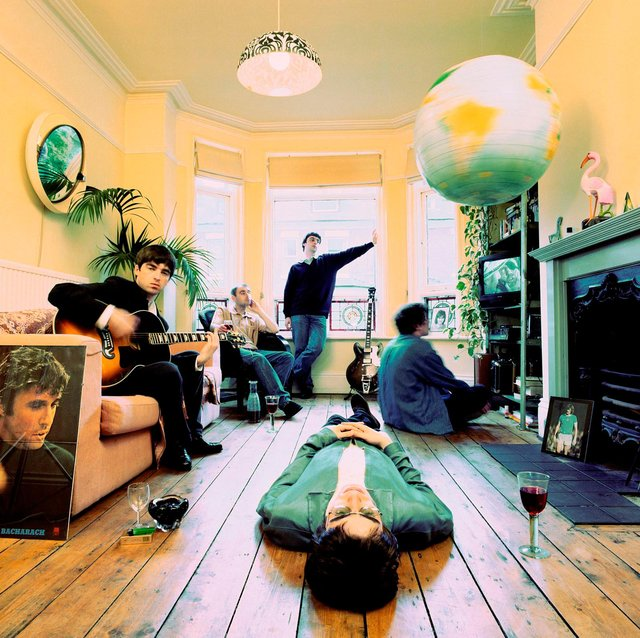 A photo from the cover session for Oasis' Definitely Maybe.  Picture: (c) Michael Spencer Jones