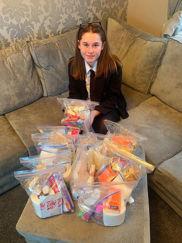 Maddy Weir has bought and created care packages for the elderly, vulnerable, and isolated who need help during the coronavirus outbreak
