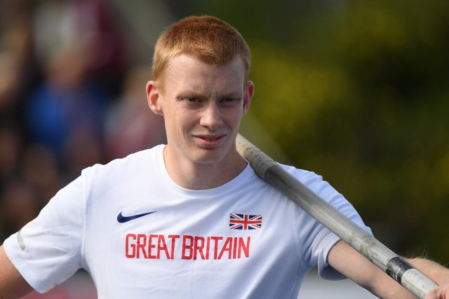 Pole vaulter Adam Hague, who is is a member of City of Sheffield and Dearne Athletics Club.