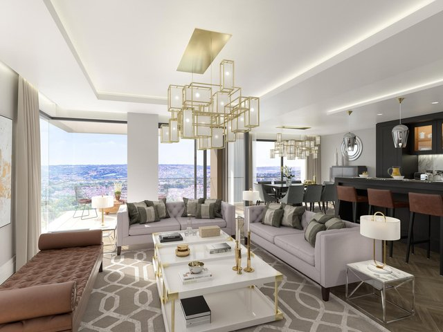 This is an example of what the living space in the apartments will look like