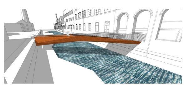 Kelham Island could have a bridge based on an origami design (image Tatlow Stancer)