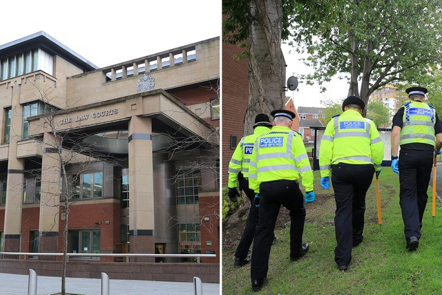 Sheffield Crown Court, pictured, heard how a burglar has been given a suspended prison sentence after he was identified by a trail of blood droplets left at a crime scene.