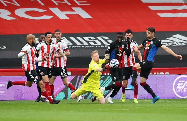 Aaron Ramsdale has impressed since the turn of the year for Sheffield United: Simon Bellis/ Sportimage