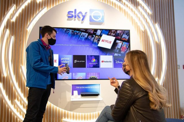 The Sky store lets customers try products.