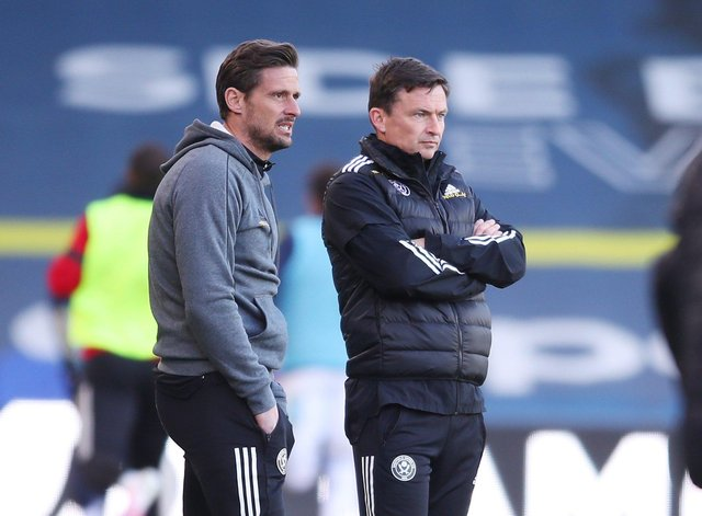 Paul Heckingbottom (R) and his assistant at Sheffield United Jason Tindall: Simon Bellis/Sportimage
