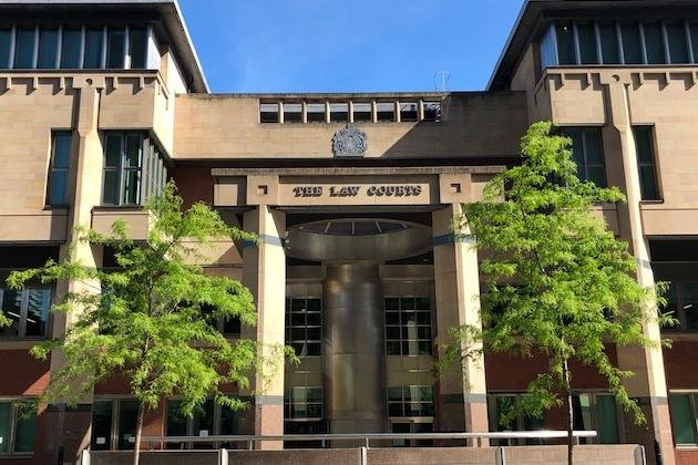 Sheffield Crown Court, pictured, has heard how a former South Yorkshire drug-addict has claimed during a murder trial that he tried to stop a fatal attack on a vulnerable man.