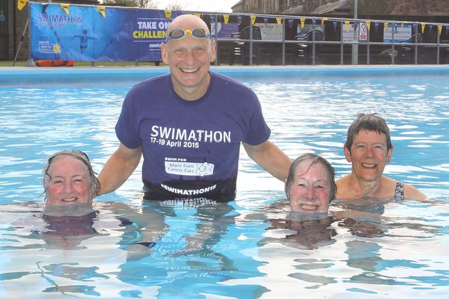 Swimming legend Duncan Goodhew meets some of the hardy regulars at Hathersage's outdoor pool. Do you recognise anyone from these pictures?