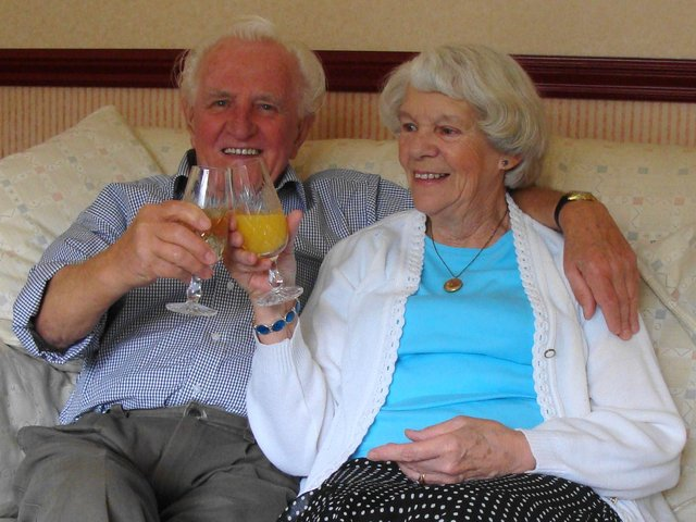 Anniversary, Jack Illingworth and Barbara his wife of 72 years