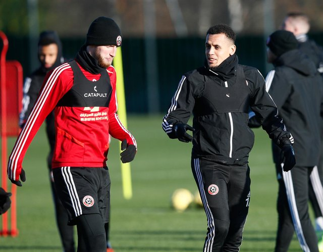 Oli McBurnie and Ravel Morrison during their time together at Sheffield United: Simon Bellis/Sportimage
