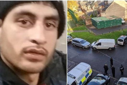Pictured is murder victim Kamran Khan, who died aged 28, after he was found with a fatal stab wound at a property on Club Garden Road, Highfield, Sheffield, near Sharrow, on November 15, 2020.