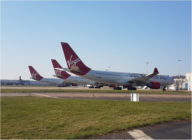 Aircraft at Doncaster Sheffield Airport.