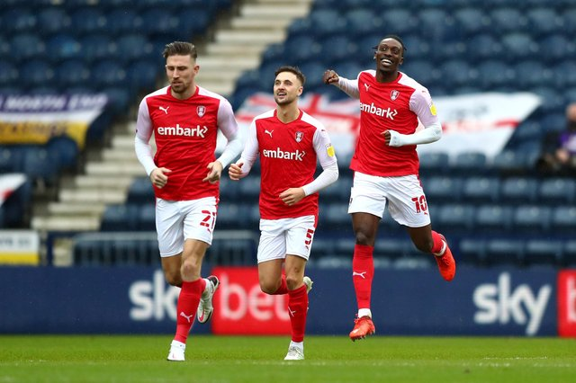 Rotherham United's Freddie Ladapo was the subject of interest from Derby County on transfer deadline day last week. (Photo by Jan Kruger/Getty Images)