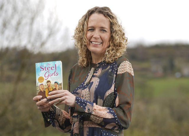 Sheffield-based author Michelle Rawlins with her new novel The Steel Girls. Picture Scott Merrylees